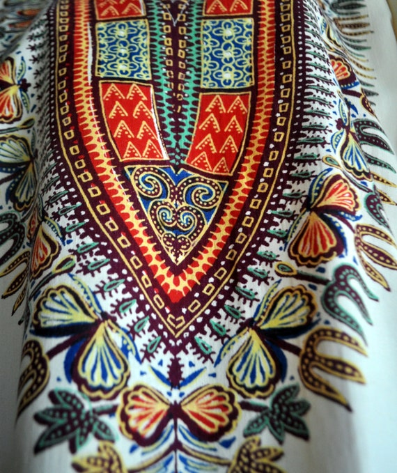 Vintage Dashiki with Angel Wing Sleeves