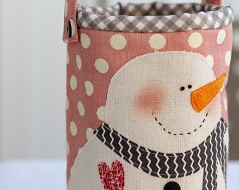 Snowman Pail- Download Pattern