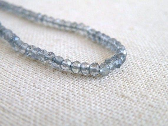 Mystic Quartz Gemstone Smoky Teal Rondelle Faceted 3.5mm FULL Strand 120 beads