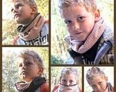 Cowl scarf neck warmer pattern PDF reversible girl boy man woman child baby toddler teen preteen teacher fall winter unique handmade gift