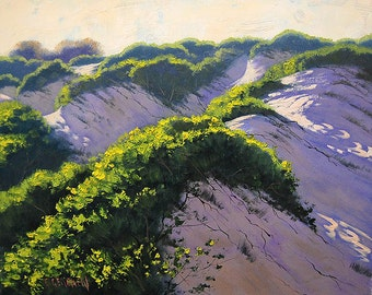 beach oil painting sand dune painting beach Landscape traditional Artwork by Graham Gercken