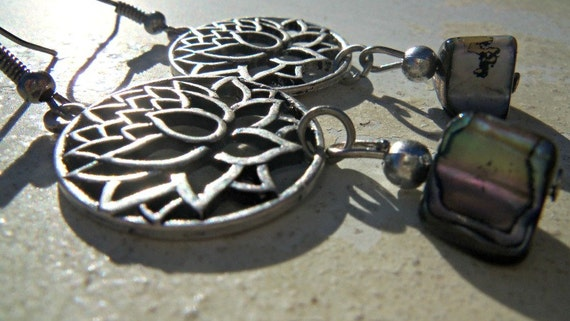 Lotus Blossom Charm Earrings