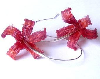red flowers horsehair