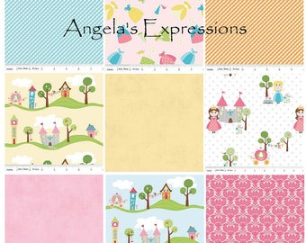 Baby Girl Rag Quilt, Baby Blanket, Pink, Happy Ever After, Castle, Fairy Tale