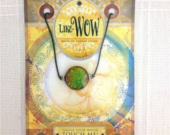 Color Changing Bead on Sliding Knot Cord in my Like Wow series, Formerly Called Mood Swings