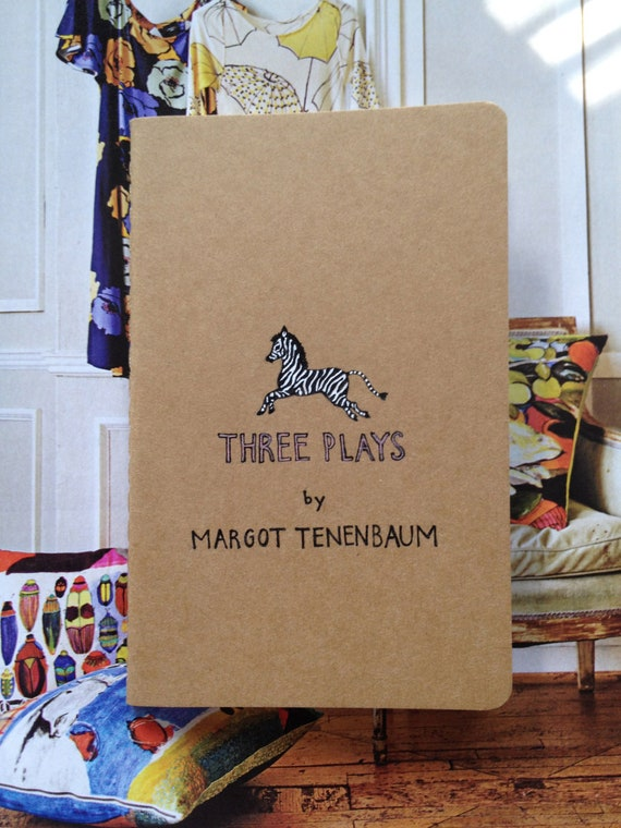 Items similar to Three Plays by Margot Tenenbaum Moleskine ...