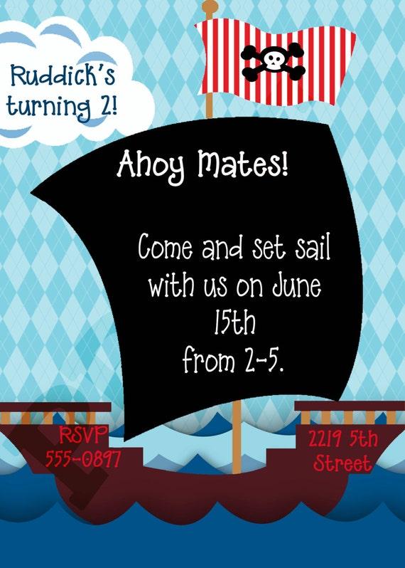 pirate party geburtstag einladung piraten geburtstag, Einladung