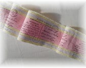 Carte Postale Post Card  - Vintage Hand Stamped Trim - 1 Yard Long x 3 Inches Wide