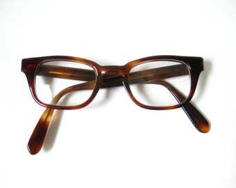 Vintage 50s Bausch and Lomb Womens Horn Rim Frames