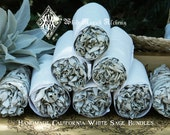 White Sage Smudge Wand . Cleansing and Clearing the Home of Negativity, Spiritual Cleansing, Banishing, Protection,