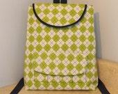 Preschool Backpack- 3 to 6 years- Green Plaid