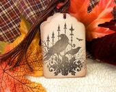 Black Crows / Ravens Halloween Gift Tags // Vintage Inspired // Set of 6