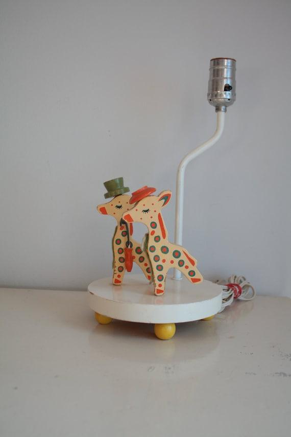 Vintage giraffe nursery : Nursery giraffe lamp