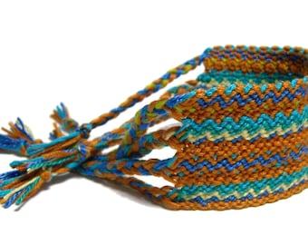 Friendship Bracelet wide cuff