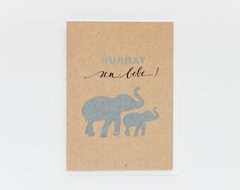 Hurray Un Bebe Card