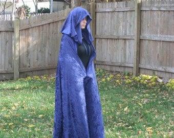 Cloak - Midnight Blue Velvet