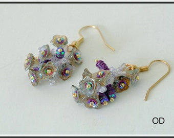 Amy. Earrings. Beaded Tutorial