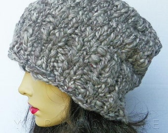 The BUKNUKI Hat -  Thick Knit Hat In Granite Gray