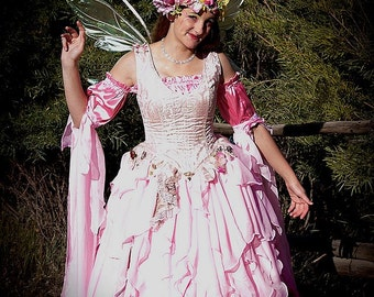 DDNJ Choose Color 4pc Fantasy Fairy Corset Gown Princess Queen Renaissance Wedding Plus Custom Made Any Size Anime Costume Medieval Lolita
