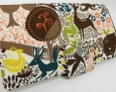 SALE - Handmade vegan Long Wallet  BiFold Clutch - Once Upon A Time Tree of Life -Folk Forest
