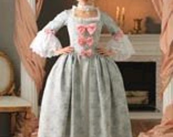 Marie Antoinette gown  colonial dress  made to your measurements choice of color