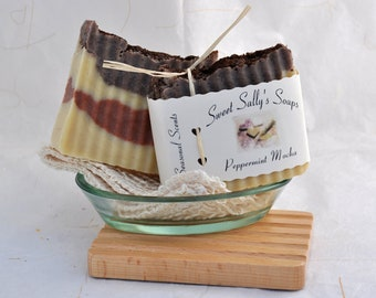 Peppermint Mocha Handmade Organic Soap, Hot Process Soap, Vegan