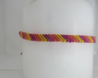 The Sunny Side of Life Inspired Candy-Cane Friendship Bracelet