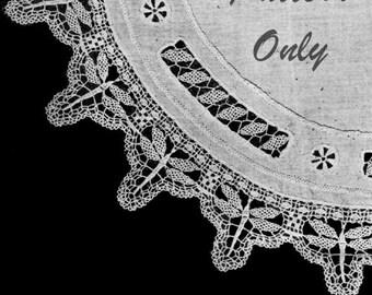 1919 Dragonfly Crochet Lace Centerpiece