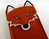 Fox MacBook Pro 15 inch case // Woodland animal laptop sleeve // Laptop case