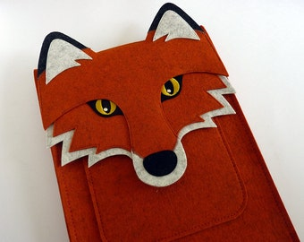 Fox MacBook Pro 15 inch case // Woodland animal laptop sleeve // Laptop case