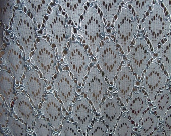 Fabric piece light blue strech lace sythetic 4meters...