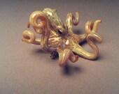 Octopus Kraken  Brooch or Lapel Pin