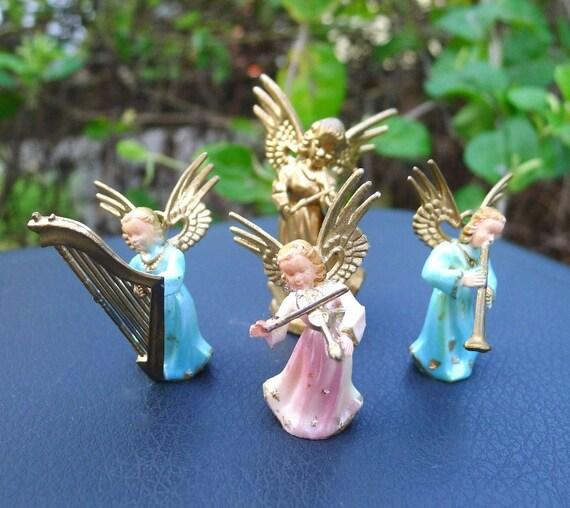 Vintage Christmas Ornaments Angels Musicians Decorations Hong Kong