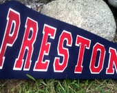 Personalized Pennant - TWO Color name in Varisty