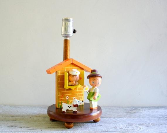 Vintage Lamp - Imri Style Nursery Rhymes - 1960s