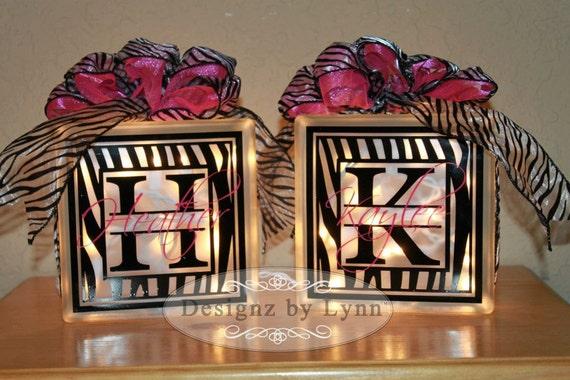 Personalized Decorative Glass Block