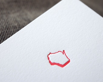 SALE! Wisconsin letterpress notecard