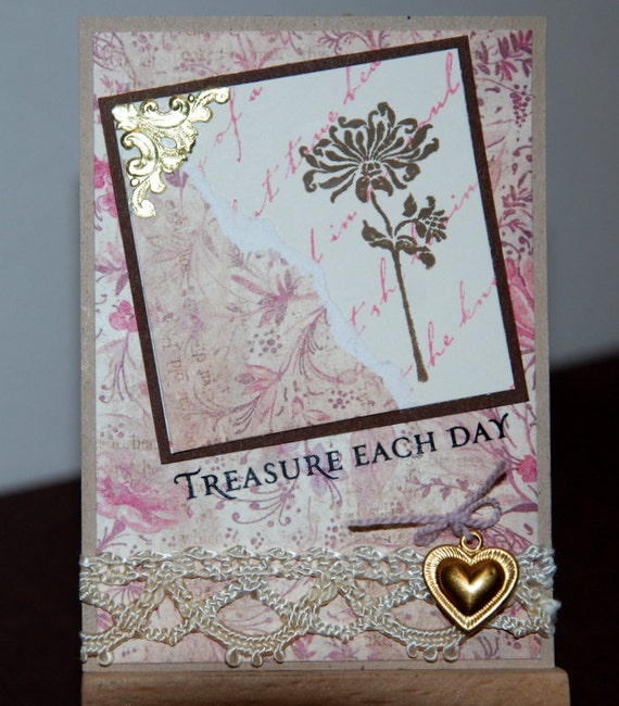 ACEO OOAK Treasure Each Day original artist trading card