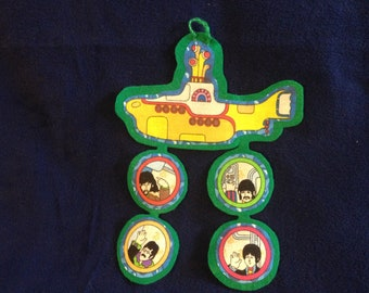 Beatles Yellow Submarine Christmas Ornament (not a licensed product)