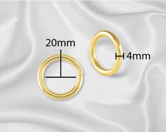 "30pcs - 3/4"" Metal O Rings Three Quarter Non Welded Gold - Free Shipping (O-RING ORG-102)"