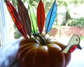Gobble Gobble 6 piece Turkey Set  Amazing Stained Glass