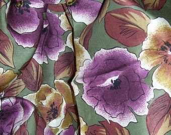 floral fabric  rayon blend  floral 1-5/8 yards