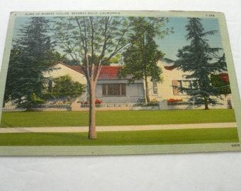 Vintage Postcard Home of Robert Taylor, Beverly Hills CA