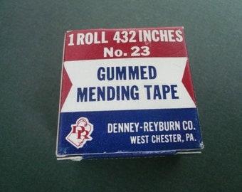 Vintage Denney-Reyburn Boxed Gummed Mending Tape