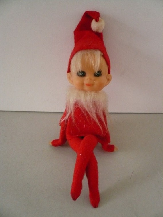 Vintage Bearded Blonde Shelf Sitting Elf