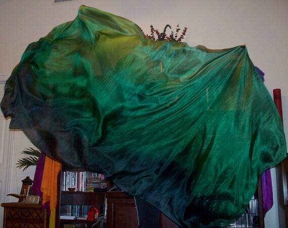 Sahariah's Silk Belly Dance Veil Rectangle 3 Yard Tribal Killer Silk Veil 10%OFF Coupon Code:VEILSALE10