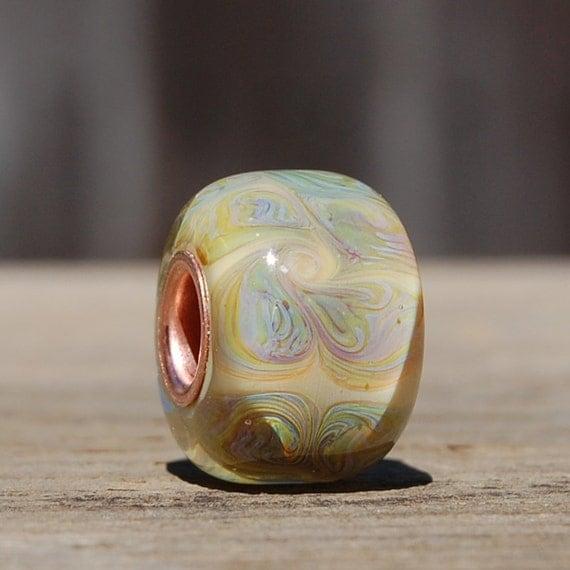 Big Hole Bead - BHB - Copper Cored Handmade Lampwork Glass Bead - SRA