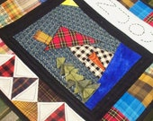 ENJOY, 15 x 14 quilted wallhanging