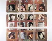 THE BANGLES recycled Different Light album art coasters with vinyl bowl