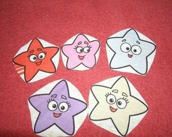 Stars iron on applique